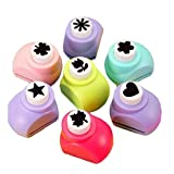 #10: Ascend Store™ Small Craft Punch - Set of 24 for Greeting Card Making, Scrapbook and Other Art and Craft Projects. Designs Shipped as per Availability.