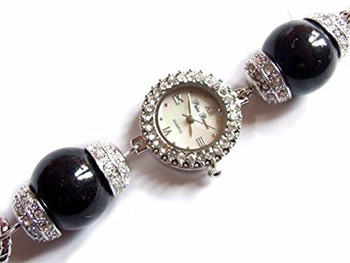 colore-nero-e-alla-moda-orologio-da-donna-con-perlina