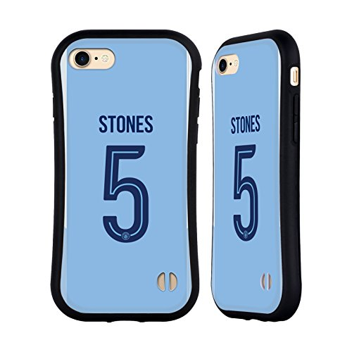 Ufficiale Manchester City Man City FC Nicolás Otamendi 2017/18 Giocatori Home Kit Gruppo 2 Case Ibrida per Apple iPhone 7 / iPhone 8 John Stones