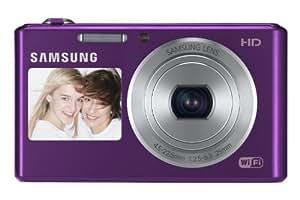 Samsung DV151F with Dual LCD, Wi-Fi, 5x Optical Zoom Lens f = 4.5 ~ 22.5mm, 16.2MP Digital Camera (White)