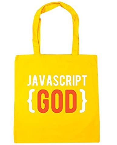 hippowarehouse javascript Dieu Sac Shopping Gym Sac de plage 42 cm x38 cm, 10 litres - jaune - Taille unique