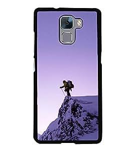 Colour Spurt 2D Hard Polycarbonate Designer Back Case Cover for Huawei Honor 7 :: Huawei Honor 7 Enhanced Edition :: Huawei Honor 7 Dual SIM
