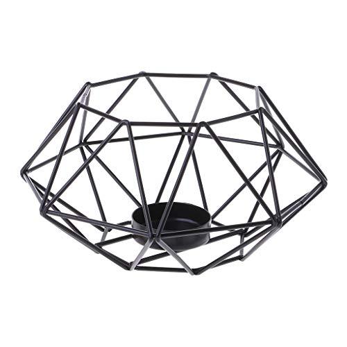 Baiyao Octagon Geometric Metal im nordischen Stil Kerzenleuchter Kerzenständer Kandelaber für Jubiläumsfeier-Tischdekoration, traditionelles Dekor -