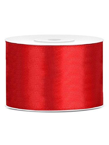 Satinband 50mm x 25m rot Geschenkband Schleifenband Dekoband Hochzeit Weihnachte