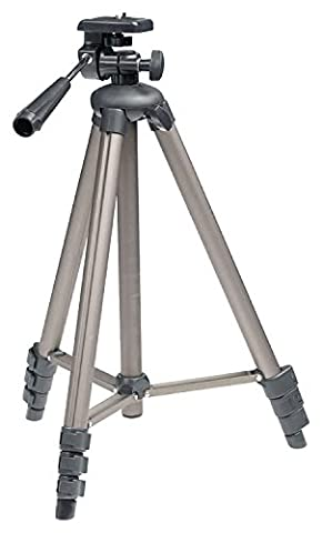 Eurosell Teleskop Stativ Tripod für Lasernivelliergerät Kreuzlinenlaser Laserwasserwaage Rotationslaser Linienlaser Kreuzlinienlaser Baustellenlaser Kreuzlaser Laser passend für Bosch Dewalt Makita