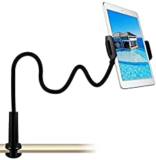 Mobile Phone Tablet Holder Stand 360 Degree Bed Table Clamp Desk Expanding Home Office Lazy Long Neck Video Adjustable Big iPhone Flexible Ipad