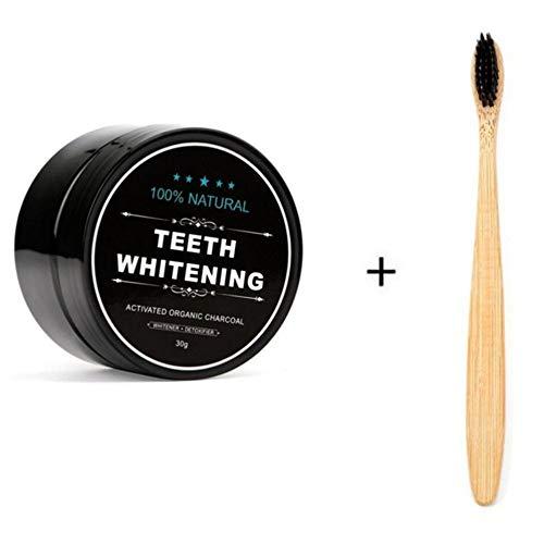 Teeth Whitening-Pulver natürliche organische Aktivkohle-Bambus-Zahnpasta -