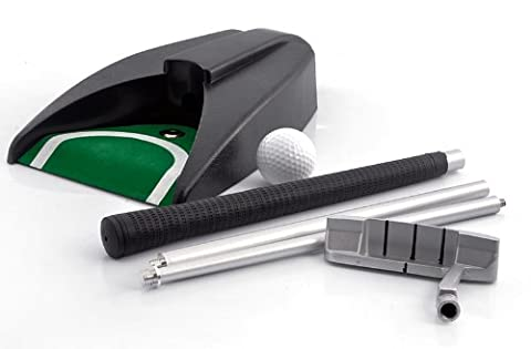BW® Indoor Golf Set - Ball Return System, Zinc Alloy Putter,Sharpen Your Putting Kills with This Indoor Golf Set Featuring a Ball Return Machine. Practice at Home, in Your Office or Entertain Your Guests in a New Way