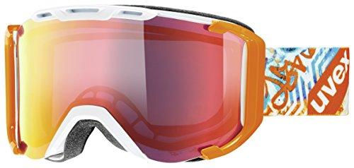 Uvex Snowstrike FM, White -orange Skibrille, One Size