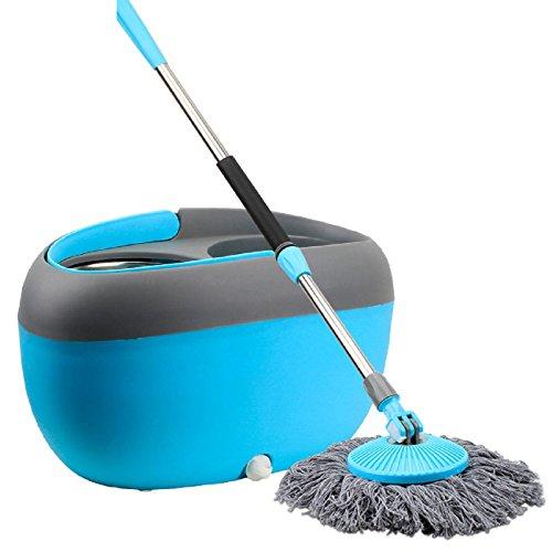 GAOJIAN Double-Drive Mop Eimer 360 Grad Swivel Mop Edelstahl Schlafzimmer Wohnzimmer Automatische Trockner Trockene Wasser Mop Eimer Cotton Thread Mops Head , a