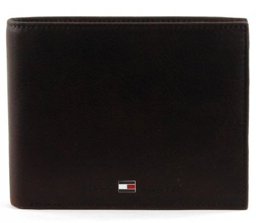 TOMMY HILFIGER Johnson Trifold Wallet Brown