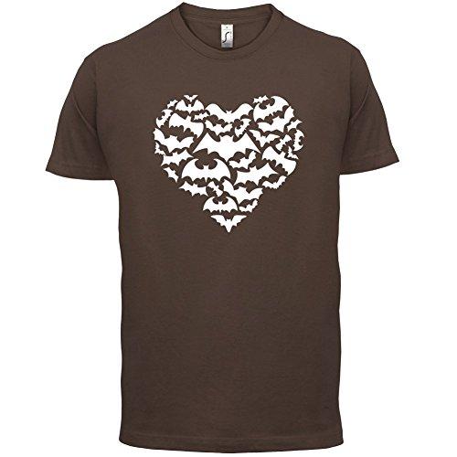 Love Heart Bats - Herren T-Shirt - 13 Farben Schokobraun