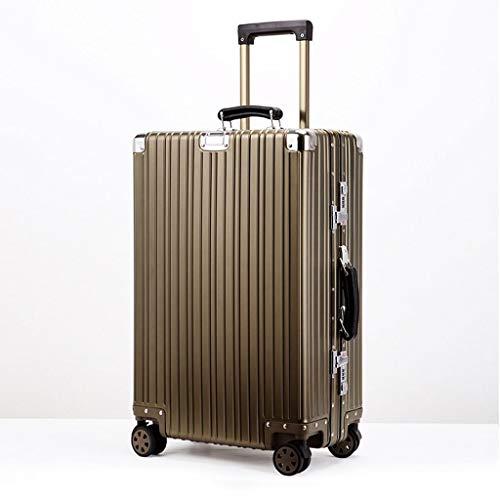 ZYL Valigia Valigia Spinner Premium for Valigia con Serratura TSA Integrata - 50 cm, Oro Trolley (Size : 20 inches50x35x25cm)