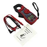 UEETEK Pince ampèremétrique Multimètre numérique ampère pince multimètre AC / DC tension testeur MT87 (Rouge)