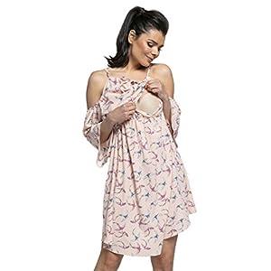 Happy Mama. Donna. Abito elasticizzato prémaman elegante vestito con ... 7ee8f34474b