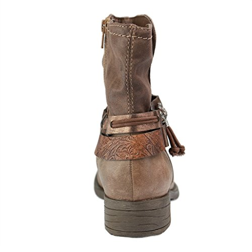 Jana–25412–codolo corto da donna scarpe–grigio stivali in H Weite Grau