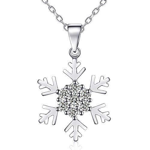 Rosey Kette für Damen, 925 Silber Anhänger Halskette Damen 45cm + 3.5cm Verlängerungskette