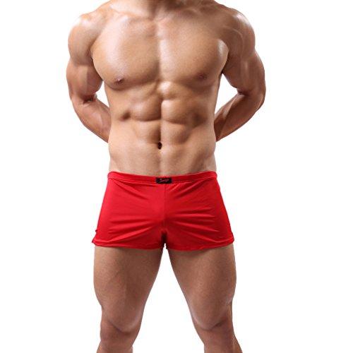Gazechimp sexy Herren Men Hipster Short Boxershorts unterwäsche slips unterhose lässig - Rot, L (Schauen Slinky)