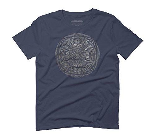 Quasar Crest Men's Graphic T-Shirt - Design By Humans Navy