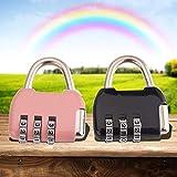 LafyHo Mini Metallo 3 cifre Numero Combinazione di Password Blocco Bagagli Lucchetto DE