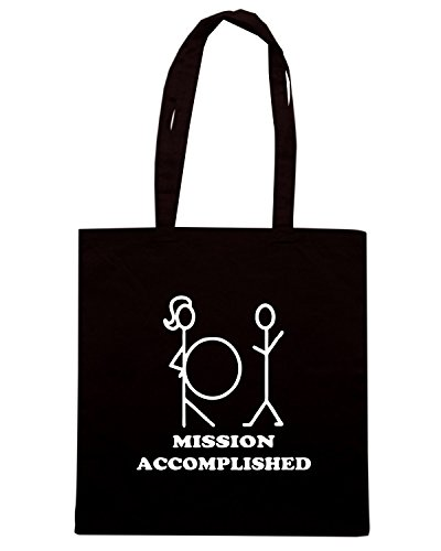 T-Shirtshock - Borsa Shopping TB0005 mission accomplished, Taglia Capacita 10 litri - T-shirt Mission Accomplished