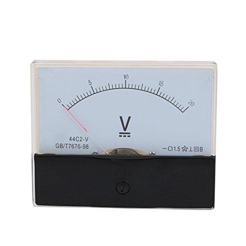 sourcing map Messung Werkzeug Analog Panel Voltmeter DC 0-20V Messung Range Umfang - Dc Analog Voltmeter-panel