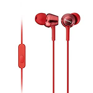 Sony MDR-EX250AP in-Ear Headphones with Mic (Red)