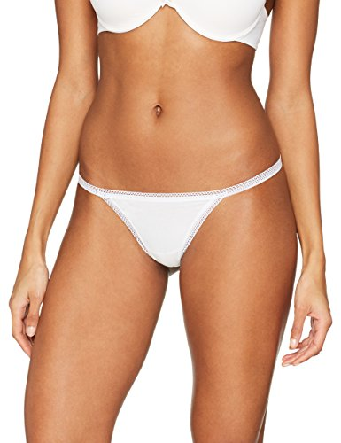 Iris & Lilly Damen G-String mit Spitze, 5er-Pack, Weiß (White), Medium