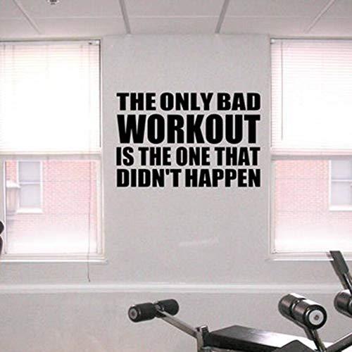 Fitness Wall Decal Gym motivierend Zitat Aufkleber Vinyl Schriftzug inspirierend Spruch Kunst Wo63 * 42cmrkout