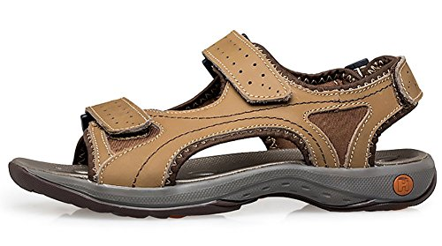 Odema Sandali in pelle da uomo in pelle da uomo Atletico e scarpe da esterno cachi