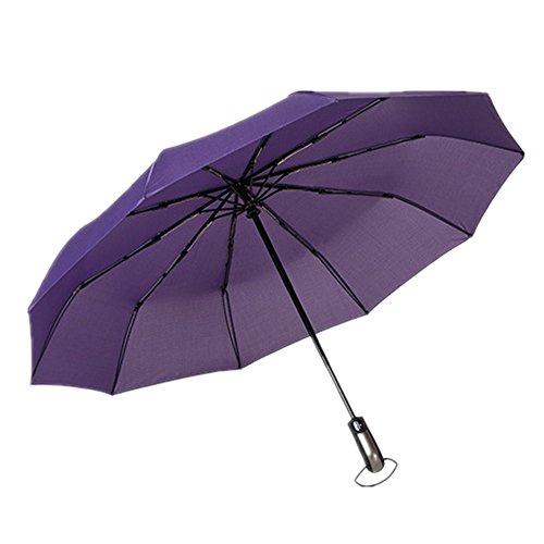 10 Varillas Paraguas Plegable Viaje automático Ligero