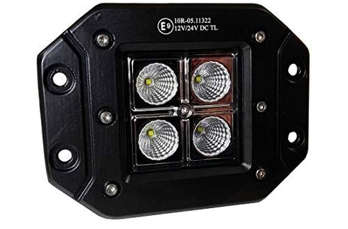 KAMAR Faro SUPPLEMENTARE LED da Incasso 12W 12V 24V OMOLOGATO Lavoro Fuoristrada