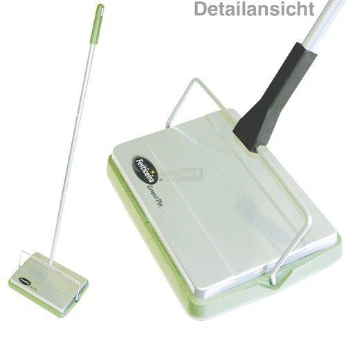 ORIGINAL Feiticeira Compact Plus Teppichkehrer Kehrmaschine für Teppich und Hartfußboden ohne Strom Elektroanschluss