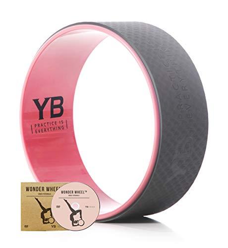 """Rueda de Yoga """"Wonder Wheel"""" por YOGABODY. De Color Rosa Pastel. Viene"""