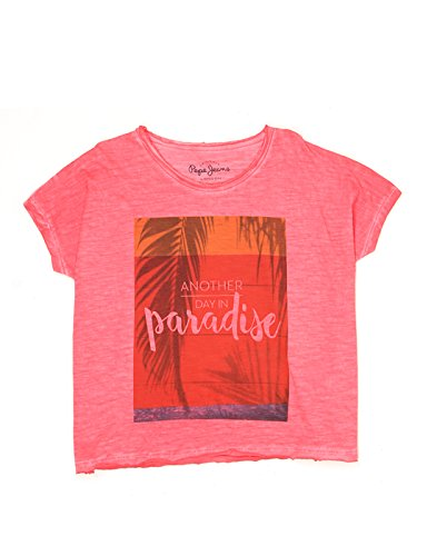 Pepe Jeans Girls' Plain Regular Fit T-Shirt (PIG0001009-3_Pink_12)  available at amazon for Rs.449