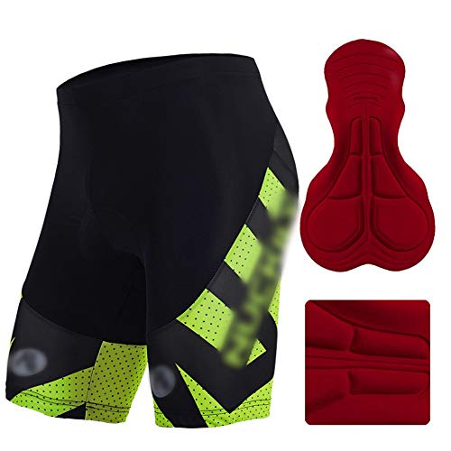 FELICIKK Print Radhose Herrenschwamm atmungsaktives Kissen Fahrradhose Outdoor-Sportbekleidung (Farbe : MB005, Size : XL) (Dirt Hose Bike 42)