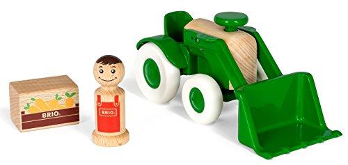 Brio 30307 vehículo de Juguete Madera - Vehículos de Juguete (Verde, Tractor, Madera, Interior, 1 año(s), Niño/niña)