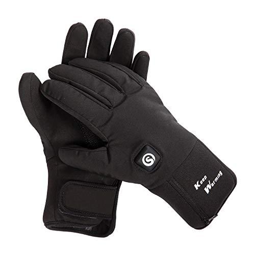 Warmer Guantes calefactados mejorados, batería eléctrica, para Esquiar, Moto, equitación y Nieve, para Hombres y Mujeres, Artritis, Hombre, Color Negro, tamaño Extra-Large