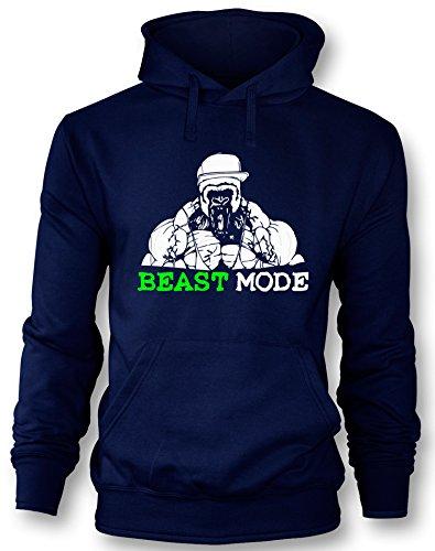 Angry Shirts Beast Mode - Gorilla - Herren Hoodie in Größe M