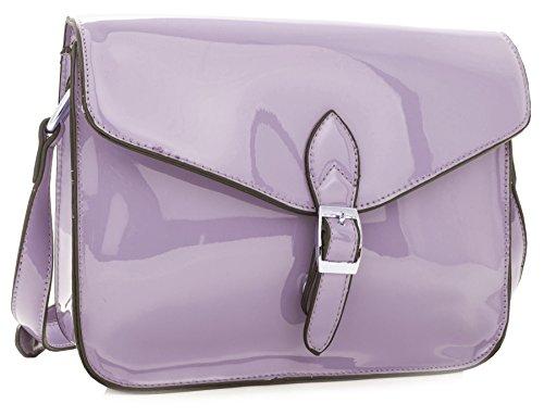Big Handbag Shop - Borsa a tracolla donna Viola (Lilla)