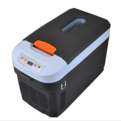 TYZXR Mini Auto Kühlbox,Kühlschrank 12V / 220V 20L tragbarer Kühlschrank für Auto und Haushalt für Reisen und Camping, kalt + heiß