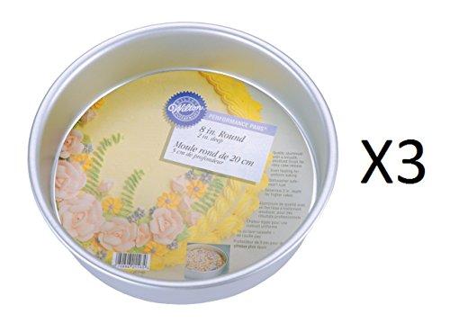 Wilton Aluminum Performance Pans 8 By 2-Inch Round Cake Baking Pan (3-Pack) 2in Round Cake Pan