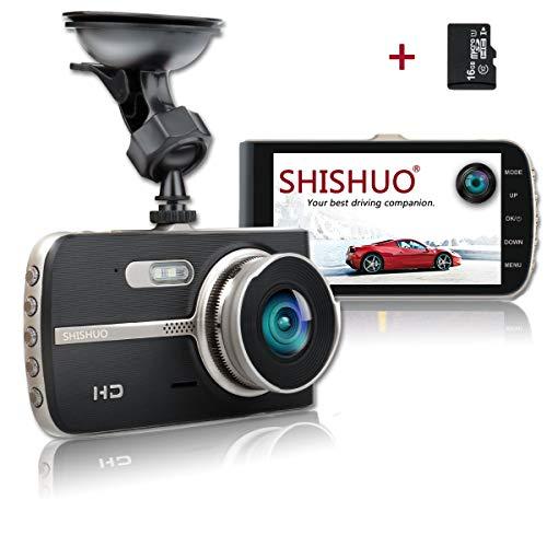 SHISHUO Autokamera - 1080P Dash Kamera 4,0 Zoll LCD Großer Bildschirm Fahrzeug Dash Fahrtenrecorder Kameras Mit 16 GB Micro SD Karte, Bilt In G-Sensor, Parküberwachung G-sensor Fahrzeug