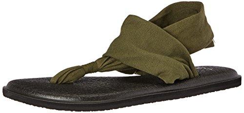 Sanuk sandal wmn yoga sling noir/imprimés 2 natural congo Dark Olive