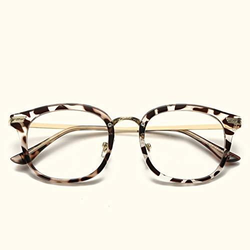 Ysprings Brillenfassungen Brillen für Frauen Brillen für Frauen ohne Rezept (Color : Leopard Print)