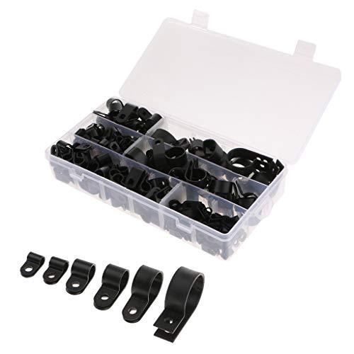 B Blesiya 200 Stücke Verschiedene Größe R-Typ Drahtschellen Clips Fastener Für Computerkabel, Fernsehkabel, Elektrische Drähte