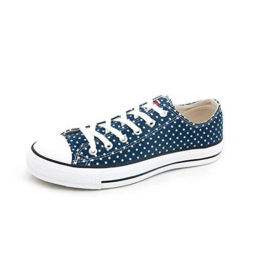 Autunno scarpe di tela piatta/Scarpa che respira/Scarpe da tennis superiori basse-D Longitud del pie=22.3CM(8.8Inch)