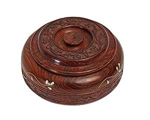 wundersch ne handgefertigte masala gew rzdose aus holz mit aufbewahrungsbox 10 f cher mit. Black Bedroom Furniture Sets. Home Design Ideas