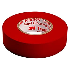 3M TROT1510 Temflex 1500 Vinyl Elektro-Isolierband, 15 mm x 10 m, 0,15 mm, Rot