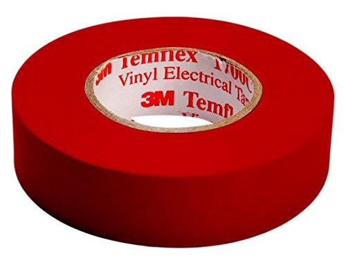 Nastro isolante 3m rosso 15 mm. x 10 metri